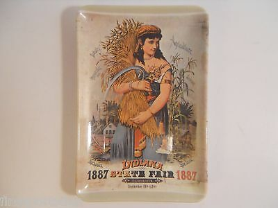 1887 Indiana State Fair Reproduction Image Tip Tray