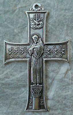 CROSS – Art Nouveau – Franciscan/St. Benedict Sterling Silver / Bronze 1287