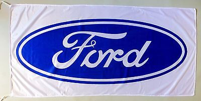 FORD FLAG WHITE - SIZE 150x75cm (5x2.5 ft) - BRAND NEW