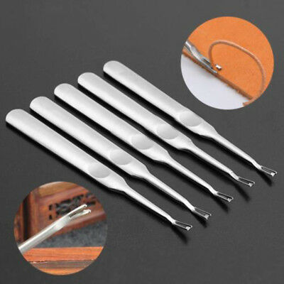 5Pcs V Shaped Stitching Groover Leather Crafts Edge Skiving Edge Beveler Tools