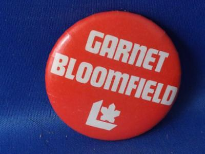 Garret Bloomfied Liberal Party Politician Canada Election Campaign Button