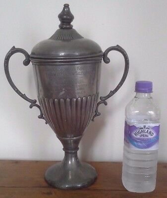 Vintage large silver plate trophy, silver, trophy, sporting trophies