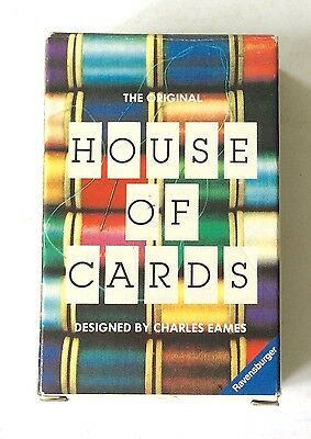 HOUSE OF CARDS Picture Deck Charles Eames MOMA 1986 Interlocking UNUSED