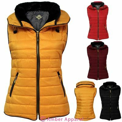 Ladies Womens Body Warmer Gilet Quilted Padded Puffer Sleeveless Coat Jacket Top