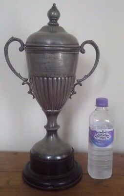 Vintage very large silver plate trophy, silver, trophy, sporting trophies