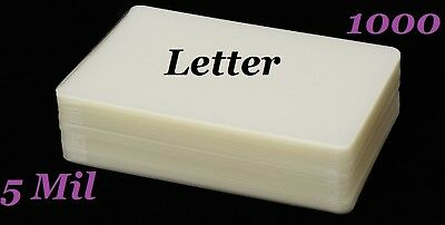 Ultra Clear Letter Thermal Laminating Pouches 1000pk 9 x 11-1/2  (5 Mil)