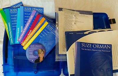 Suze Orman Ultimate Protection Portfolio Blue Case CD 10 Books Wills Finance New