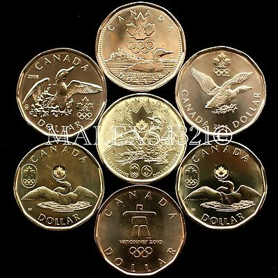 Canada The Complete Lucky Loonie Set 2004 To 2016 Uncirculated (7 Coins) 1$