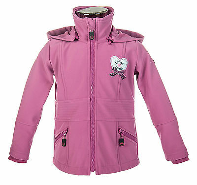 HKM Kinder Softshelljacke Little Sister Paradiso dunkelpink