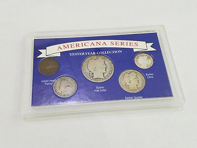 Americana Series Collection Silver Half Dollar Quarter Dime Coin Set - 7365