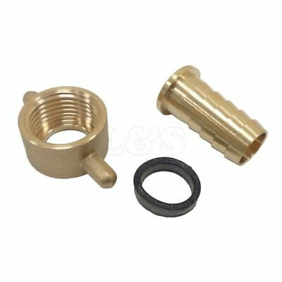 "Brass Female 1"" BSP Cap & 3/4"" Hose Tail"