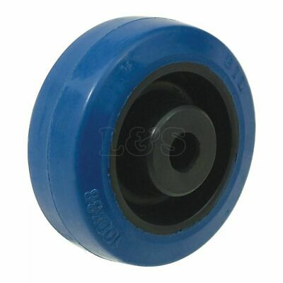 "4"" Blue Rubber Castor Wheel Only"