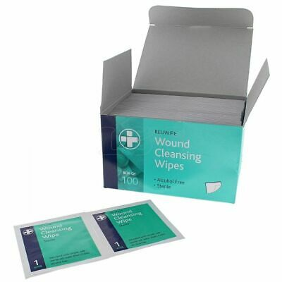 First Aid Wound Cleansing Wipes - Pack of 100
