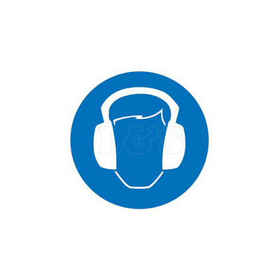 Pack of Stickers 25x25mm - Ear Defenders (50pk)