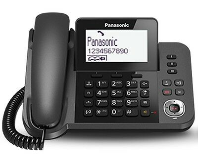 Panasonic Quality Handsfree Phone / Ans System Home / Office Desk / Wall From Uk