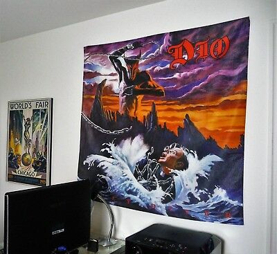 DIO Holy Diver HUGE 4X4 BANNER poster tapestry cd album cover art heavy metal