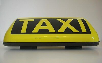 Starker Led Magnet Taxi-Dachzeichen Taxischild Taxilampe + Stecker Top !