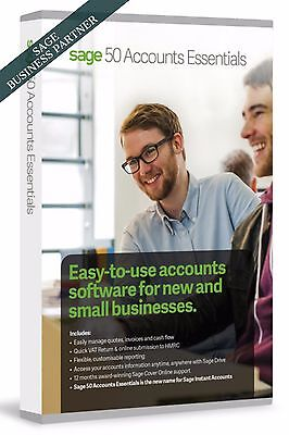 New Sage 50 Essentials Accounts (Latest Version 24 - Perpetual Licence)