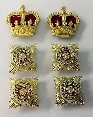 Rank Colonel,Officer 3/4 Gold & Enamel Rank Stars, Pips, & Gold Crowns,Army