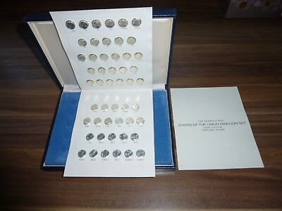 Solid Silver Miniture Coins States Of The Union