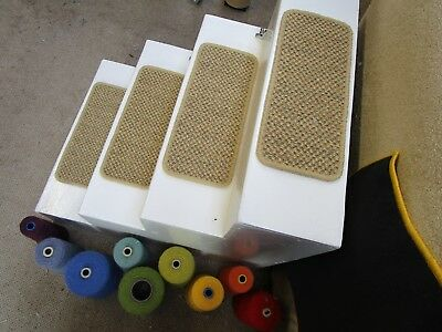 2 Handmade seagrass tiger eye natural stair pad treads Crucial Trading 49cm wide