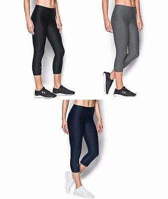 New Women's Under Armour UA HeatGear Capri Compression Tights - 1297905