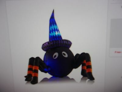 Halloween Inflatable 4Ft Spider With Leds