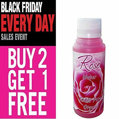 100% PURE ROSE WATER Natural  Cleanser Moisturizer Toner 100ml BUY2GET1 FREE