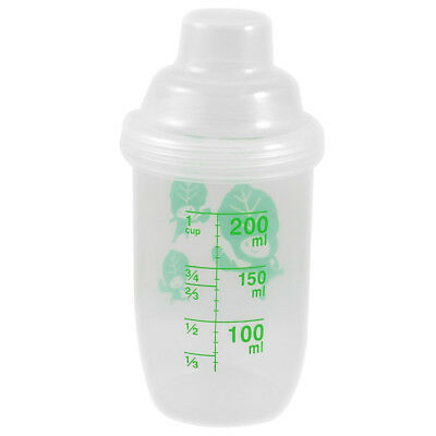 PF 200ml Capacity Clear Plastic Water Bottle Cup with Cap