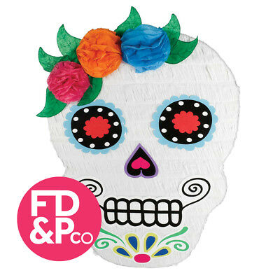 53cm Halloween Day Of The Dead Sugar Skull Bash Pinata Birthday Party Game