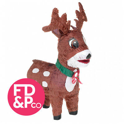 48cm Santa's Reindeer Christmas Bash Pinata Birthday Party Game Decoration