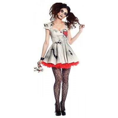 Voodoo Doll Costume Adult Halloween Fancy Dress