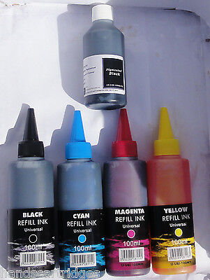 x5 Canon Bottled Ink for use MG5150, MG5250 with Syringe and Nozzle Easy Refil