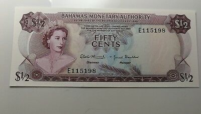 1968 Bahamas Monetary Authority 50 cent bank note