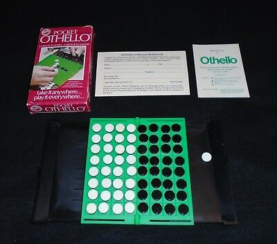 1980's Peter Pan Playthings Othello Pocket Edition 100% Complete Travel Game