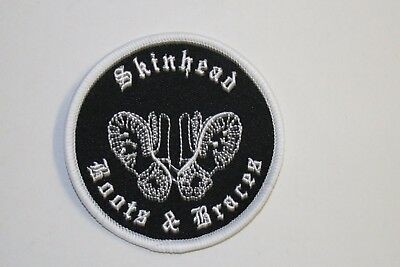 Skinhead Boots & Braces Skins Mods Scooters Patch