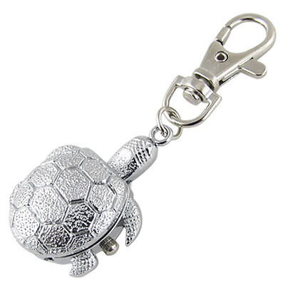 Ladies/girl's/nurses Tortoise/turtle Keyring/key Chain Pendant Pocket Fob Watch