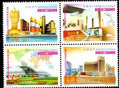 CHINA MACAU 2014 15th Ann. Macau Administration Set of 4 MNH
