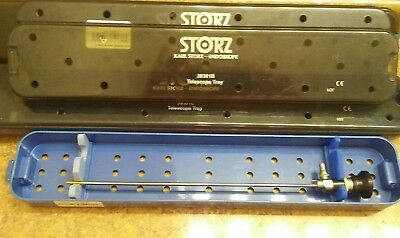 "K Storz Scope Tray 39301B 18""l Surgical Telescope Container Sterilization Case"