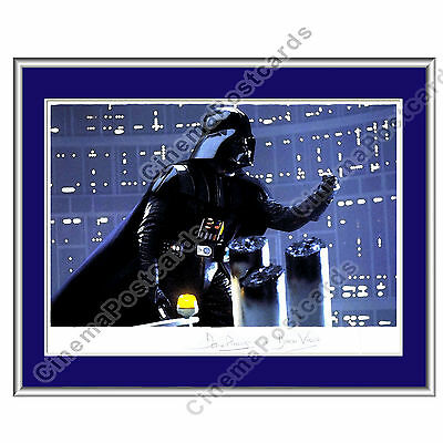 STAR WARS Empire Strikes Back Darth Vader Autograph in Frame Art Painting-Style