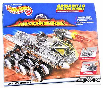 ARMADILLO DRILLING VEHICLE 1997 Hot Wheels Mattel Armageddon Movie Space Sci Fi