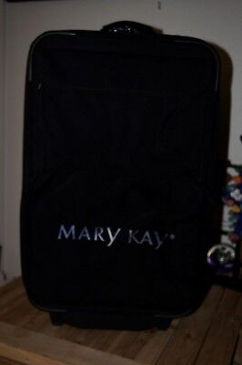 Mary Kay Consultant Wheeled Insulated Case Luggage Rolling Black White