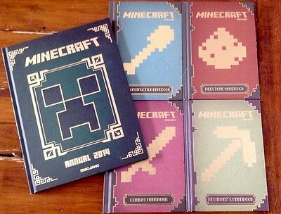 Minecraft Handbooks Set Of 4 Game Books Guides Plus A Minecraft Annual 2014