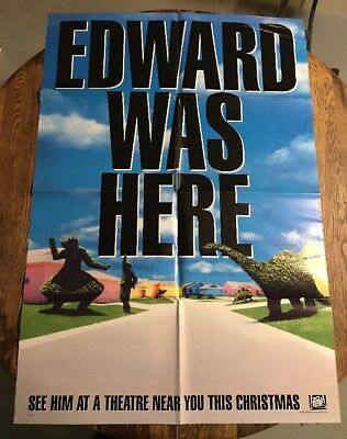 Edward Scissorhands 1990 Original Movie Poster Drama Fantasy Romance