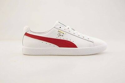 $75 Puma Men Clyde Core - Leather Foil white red 364669-03