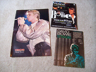 David Bowie magazine, centerfold and ad.