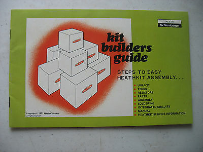 HEATHKIT Kit Builders Guide paper ephemera 1971 radio electronics