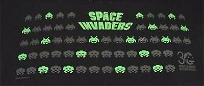 Rare SPACE INVADERS 30th Anniversary Glow in the dark Pillow (classic arcade)