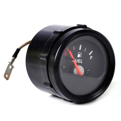 "1Pc  2"" 52mm Motorcycle Fuel Level Gauge Meter  E-1/2-F Pointer Black"