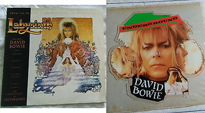 *** DAVID BOWIE - Labyrinth *** different INNER SL+ Underground shaped pict disc